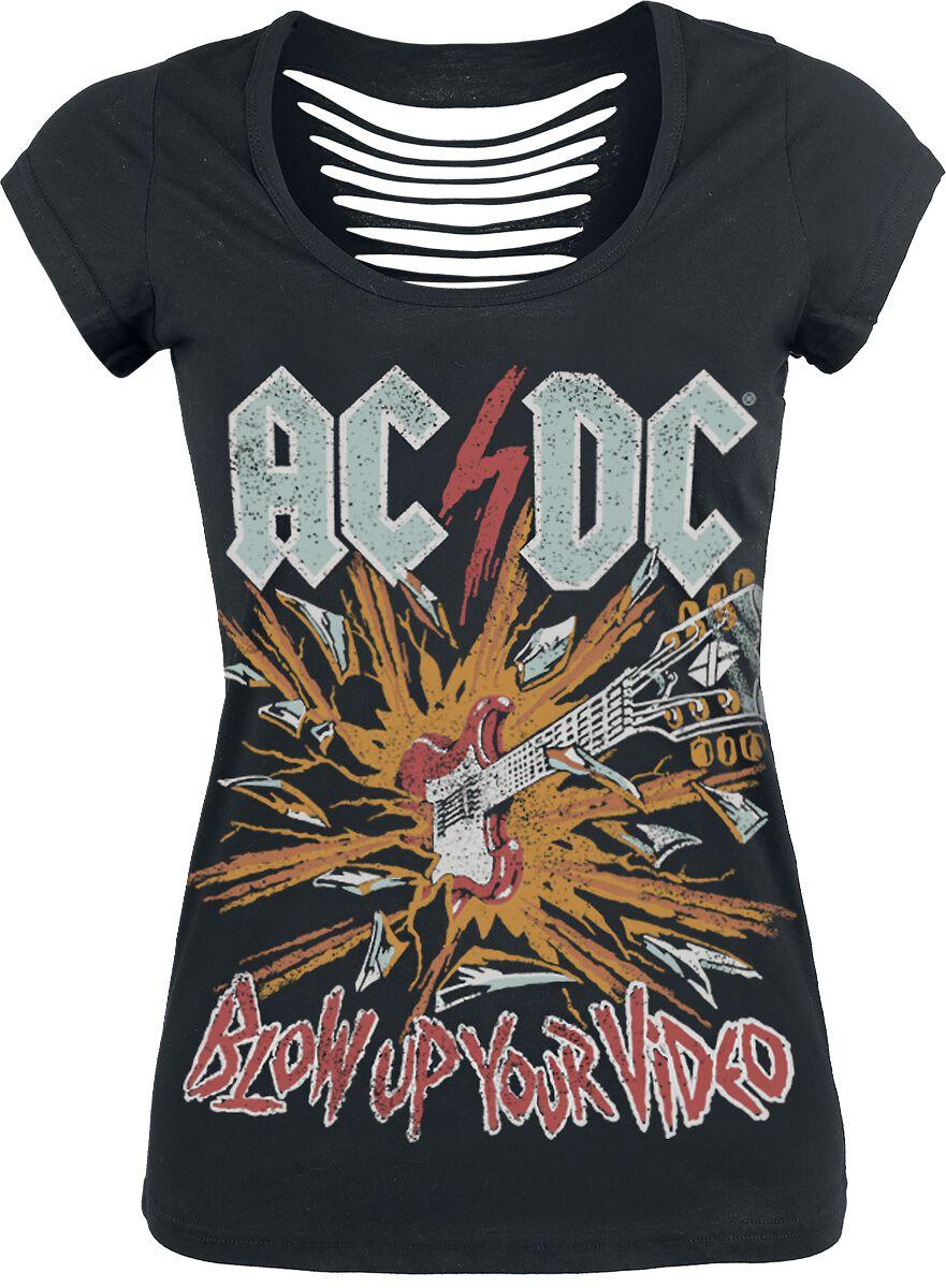 Image of   AC/DC Blow Up Your Video Girlie trøje sort