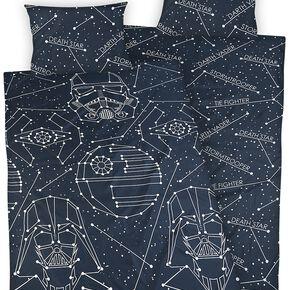 Star Wars Sternenbilder Parure de lit 1 place blanc/noir