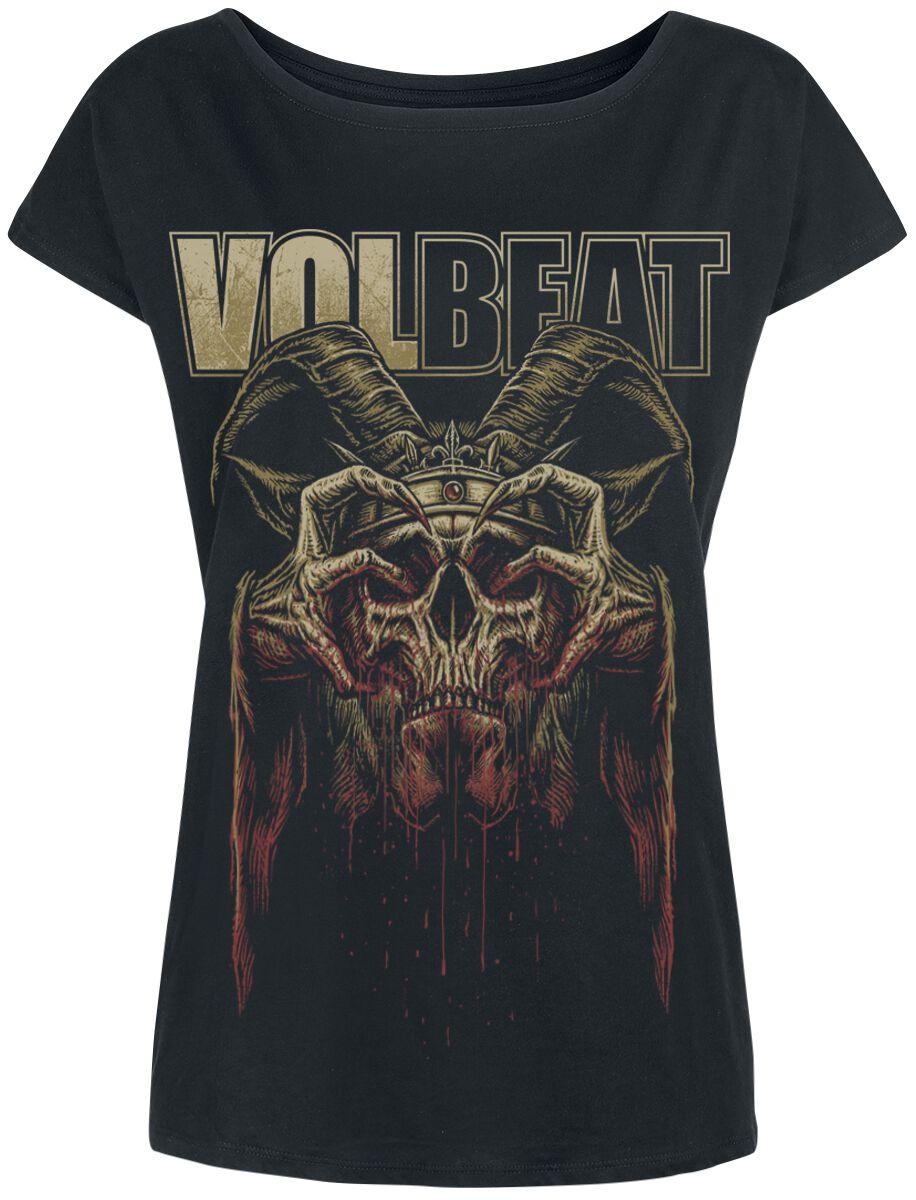 Image of   Volbeat Bleeding Crown Skull Girlie trøje sort