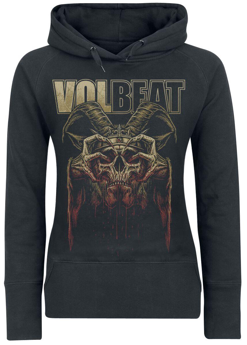 Image of   Volbeat Bleeding Crown Skull Girlie hættetrøje sort