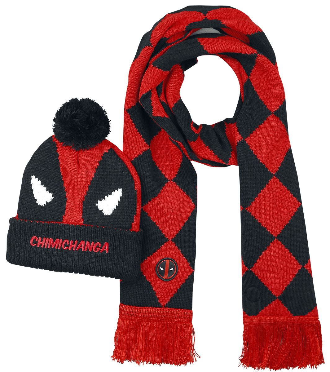 Image of   Deadpool Chimichanga Vintersæt sort-rød-hvid
