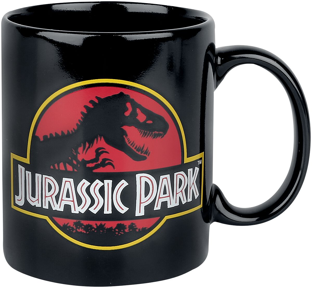 Image of   Jurassic Park Classic Logo Krus sort