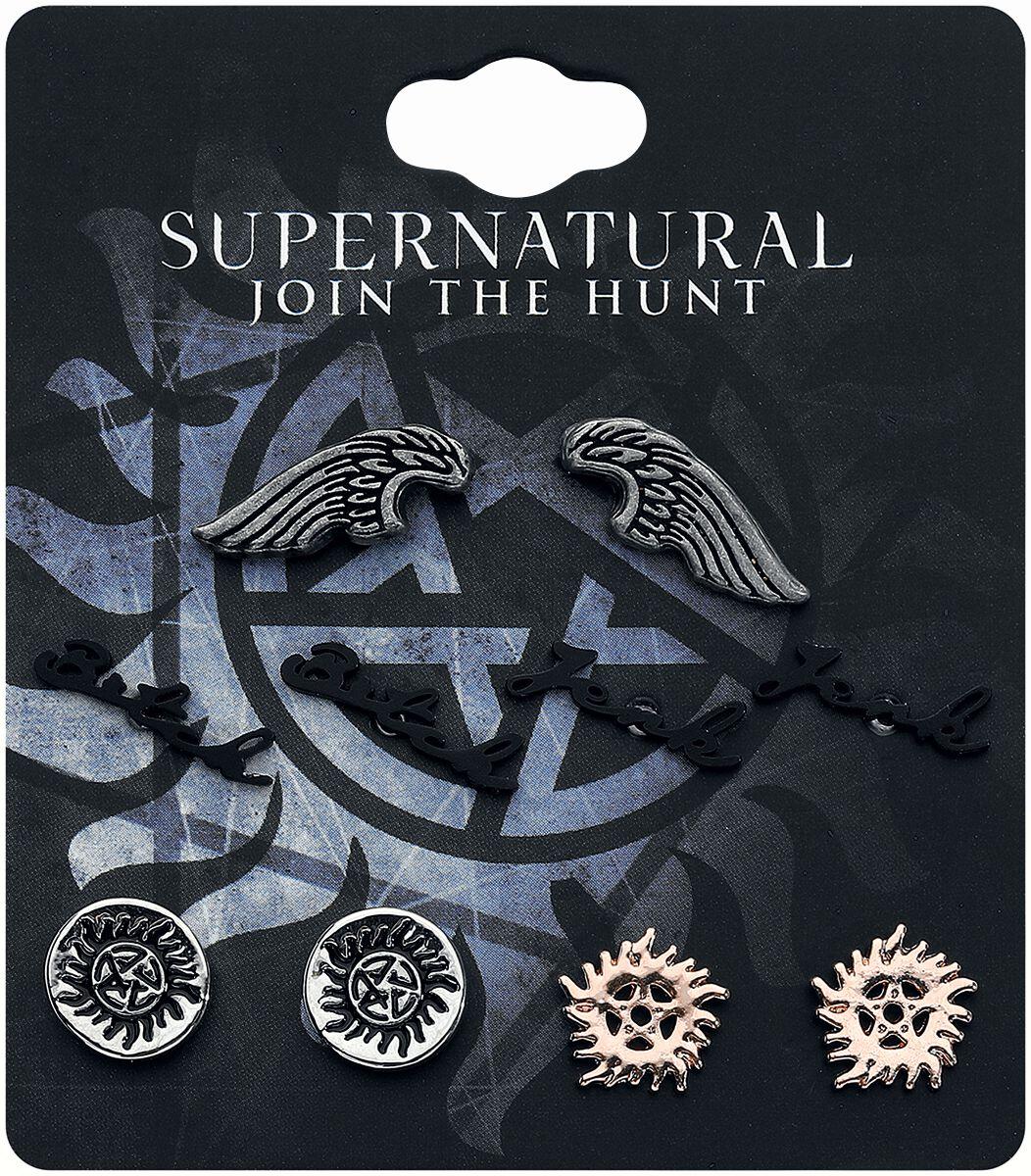 Image of   Supernatural Symbols Ørestik sæt multifarvet