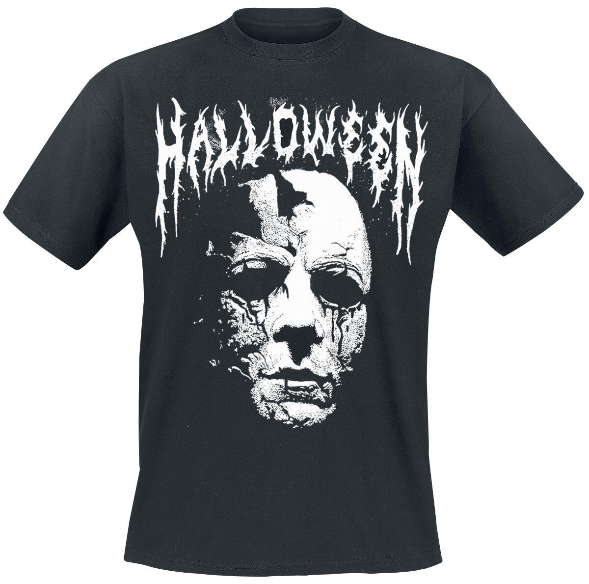 Image of   Halloween Michael Myers - Black Metal Logo T-Shirt sort