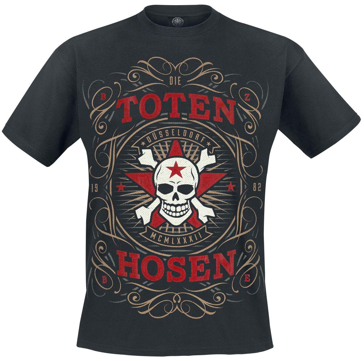 Image of   Die Toten Hosen Blumenkopf T-Shirt sort