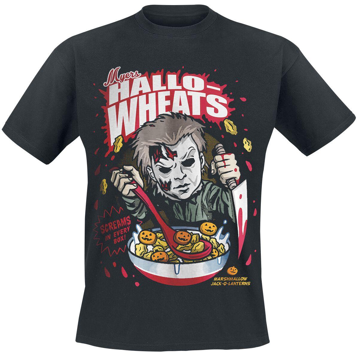 Image of   Halloween Michael Myers - Hallo-Wheats Cereal T-Shirt sort