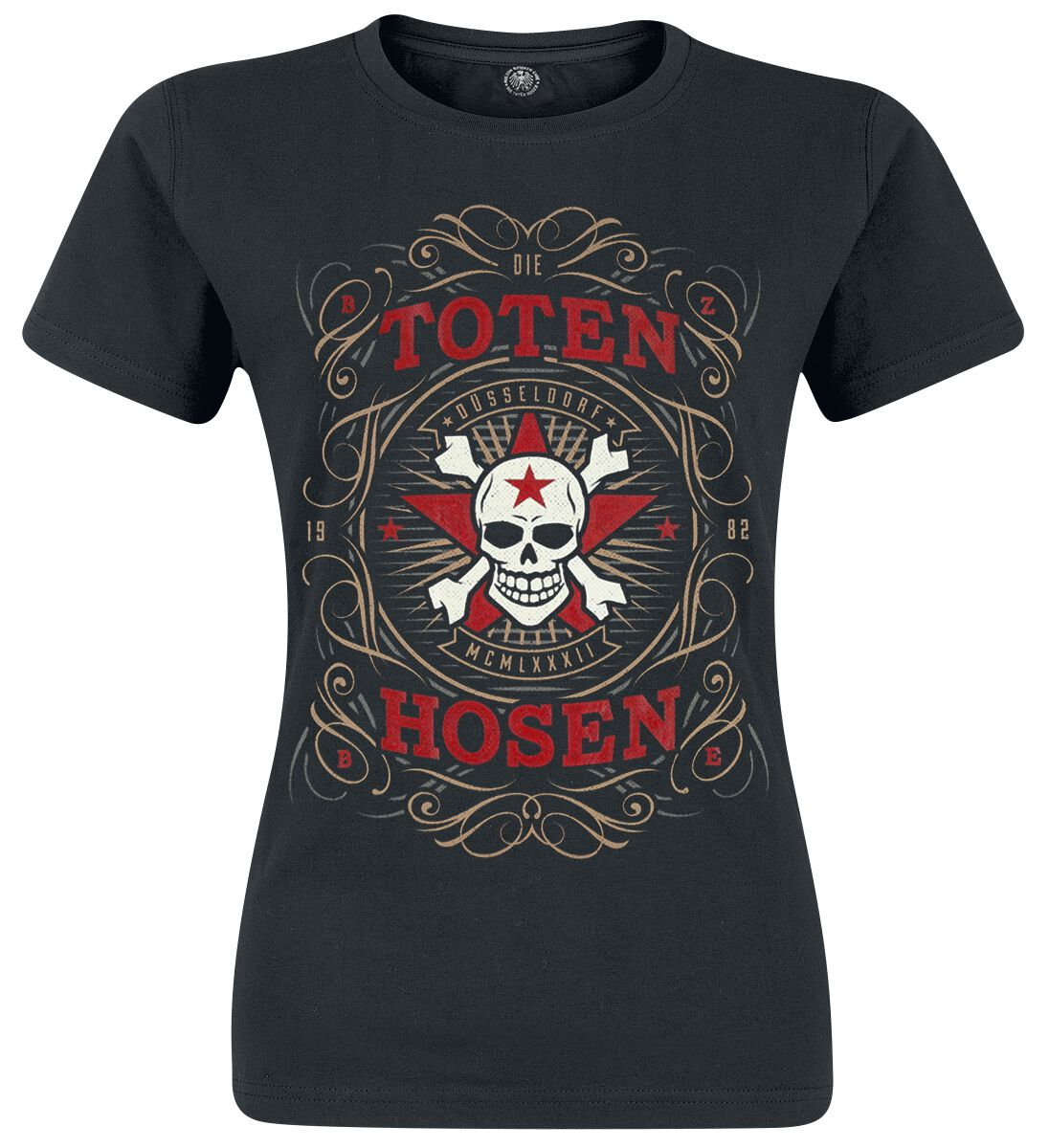Die Toten Hosen Düsseldorf MCMLXXXII Koszulka damska czarny