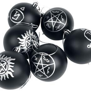 Supernatural Symbols Boule de Noël noir/argent