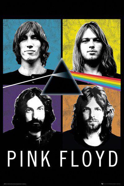 Image of   Pink Floyd Band Plakat multifarvet