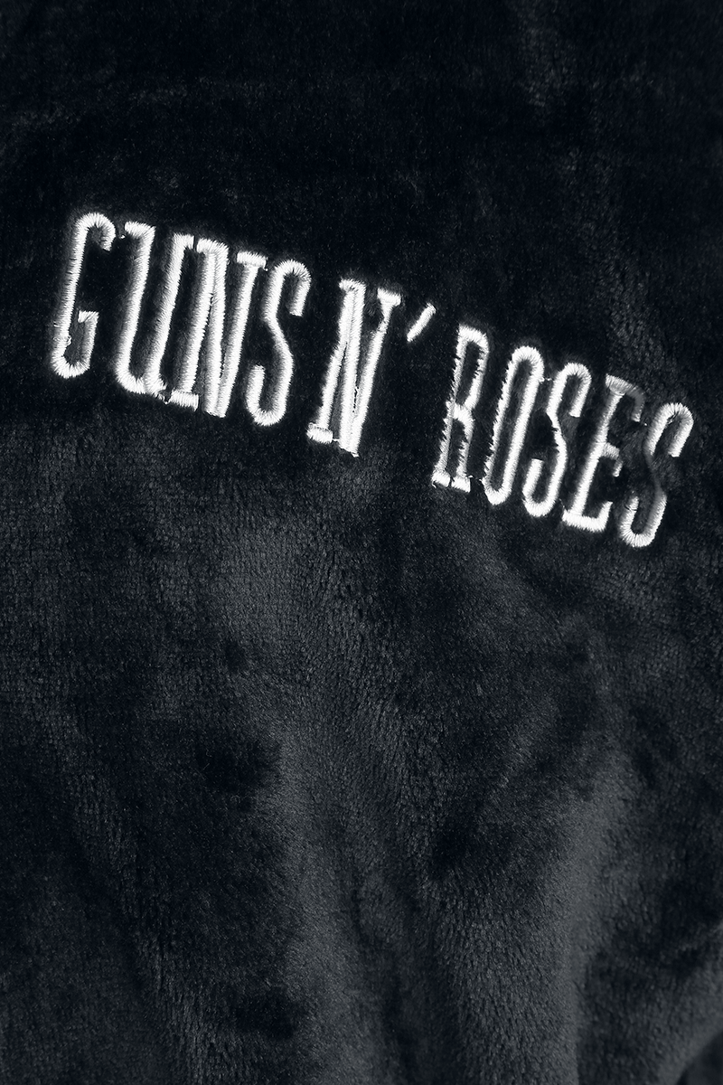 Image of Guns N' Roses Logo Bademantel schwarz