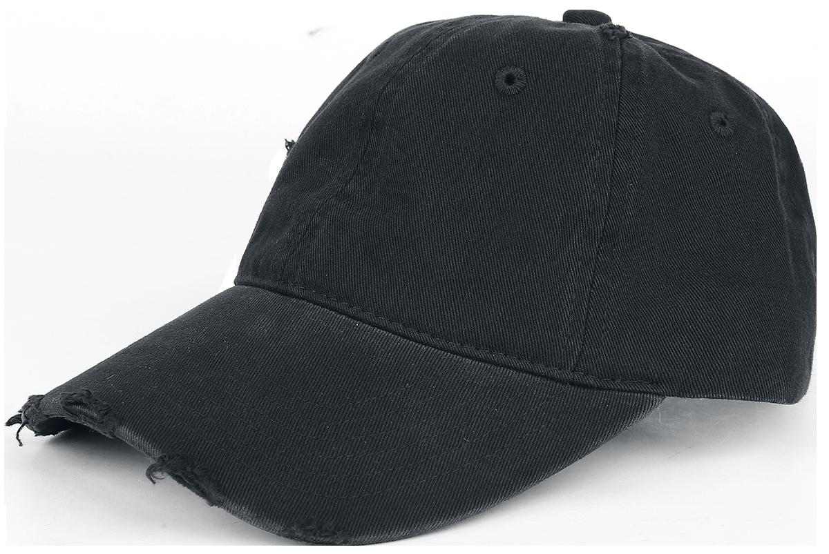 Baseball Cap - Distressed - Baseball Cap - black