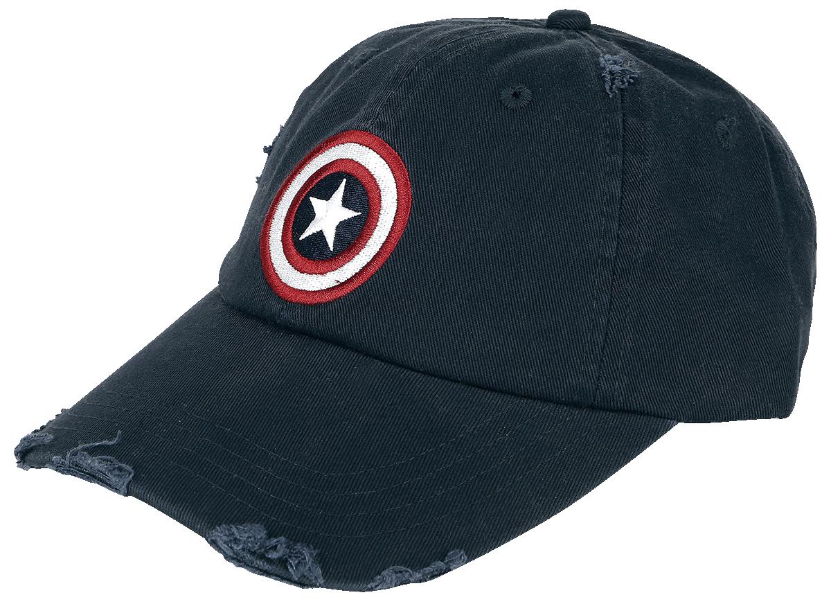 Captain America - Logo - Vintage - Baseball Cap - navy