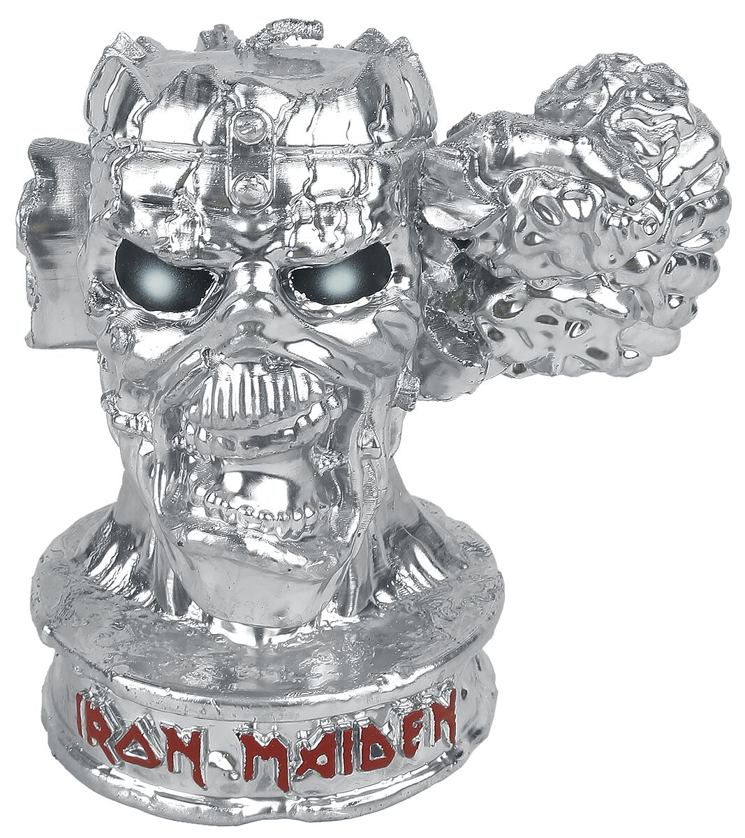 Image of   Iron Maiden Can I play with madness Stearinlys sølvfarvet