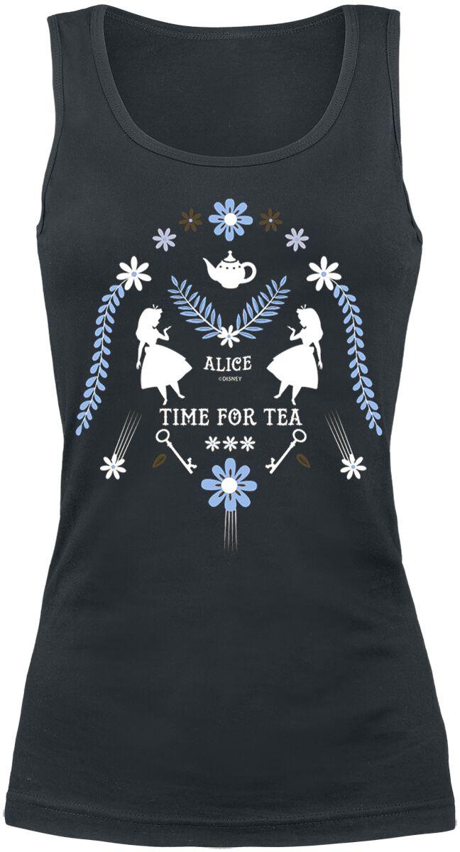 Image of   Alice i Eventyrland Time For Tea Girlie top sort