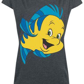 La Petite Sirène Fabius T-shirt Femme gris chiné