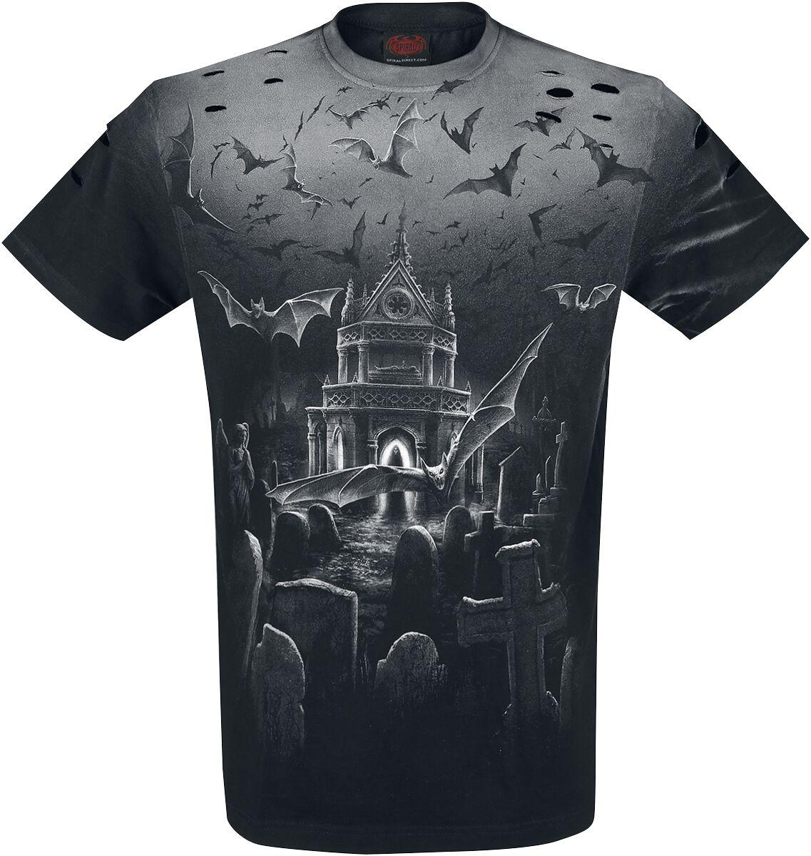 Image of   Spiral Nightshift T-Shirt sort