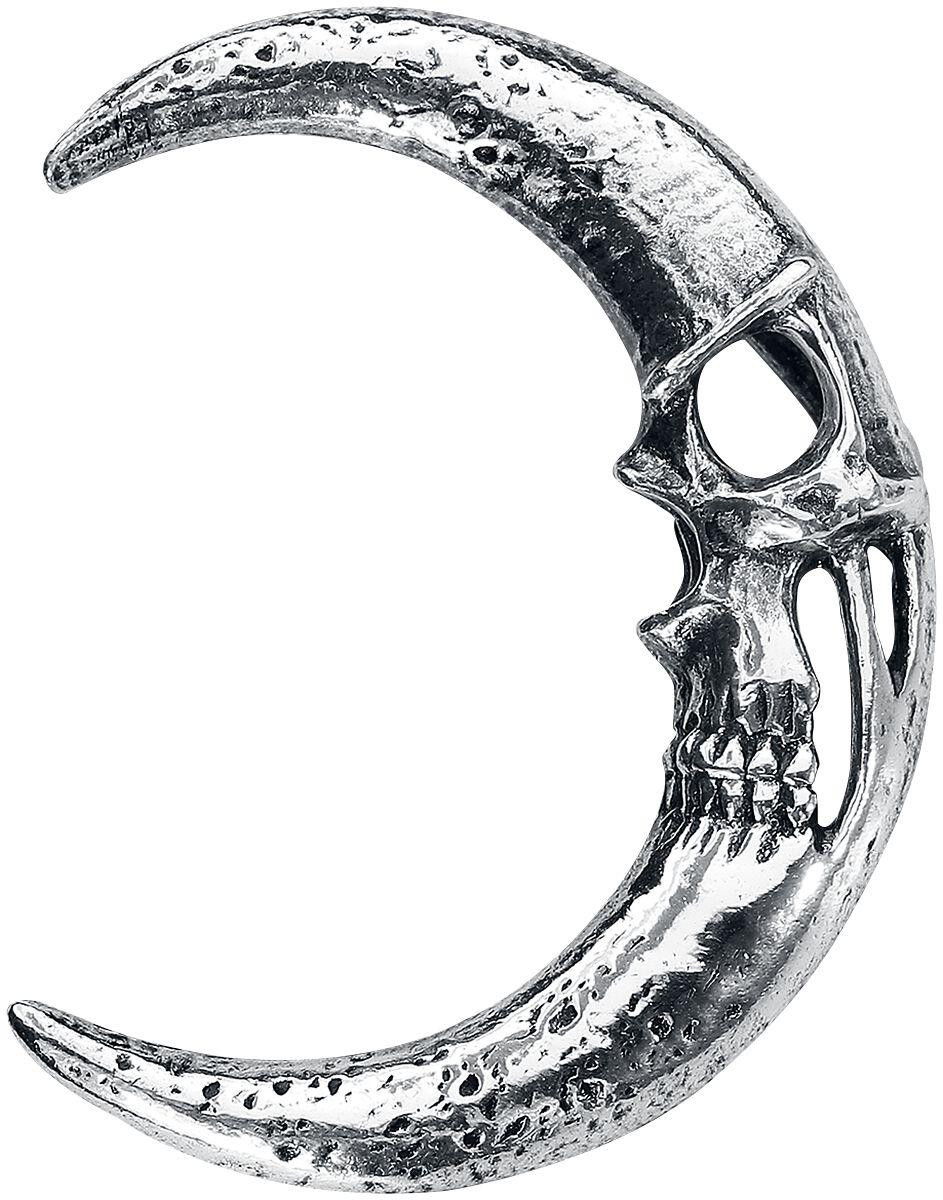 Image of   Alchemy Gothic Moonskull Ørestik sølvfarvet