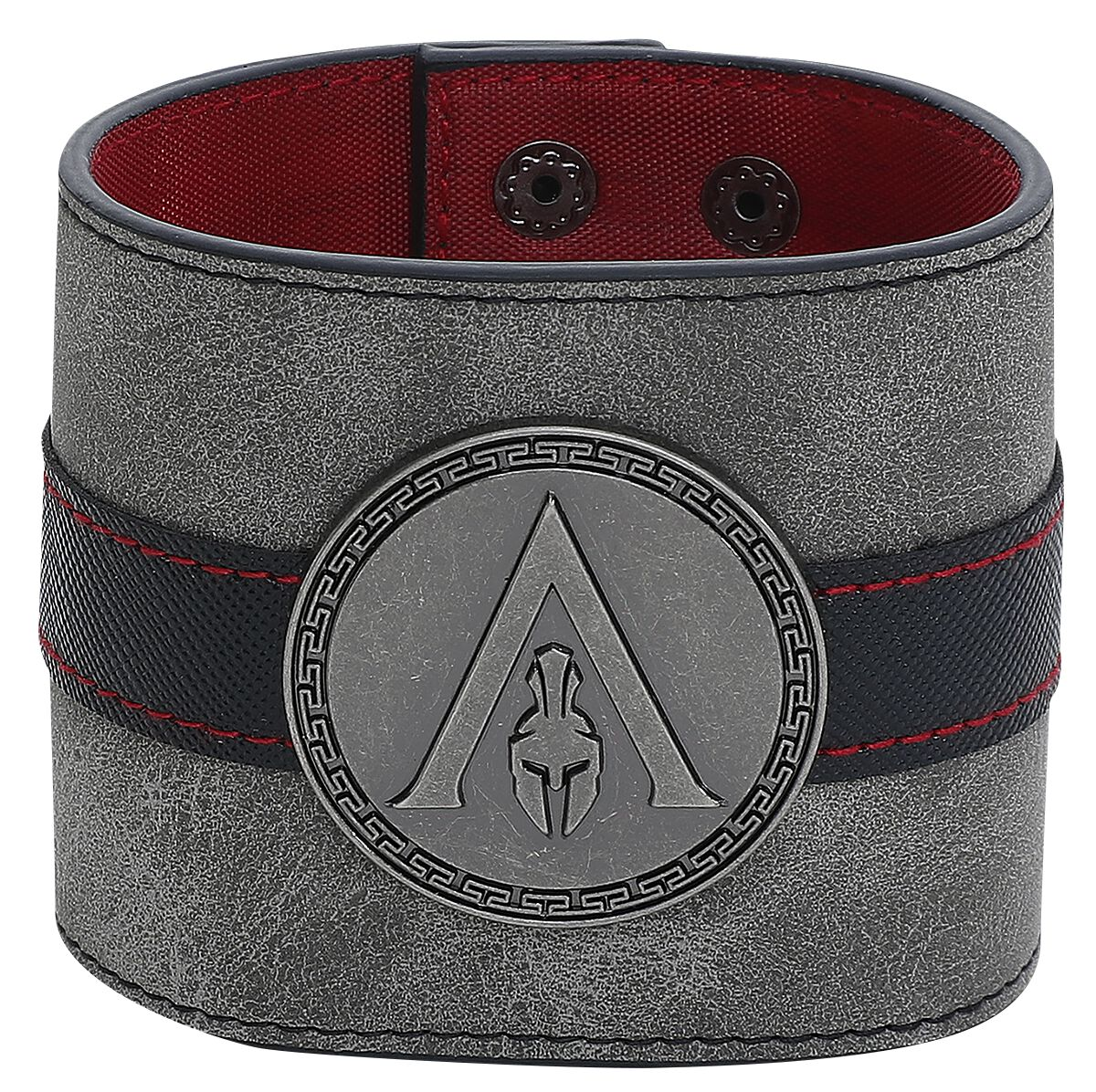Image of   Assassin's Creed Odyssey - Metal Badge Wristband Armbånd sort