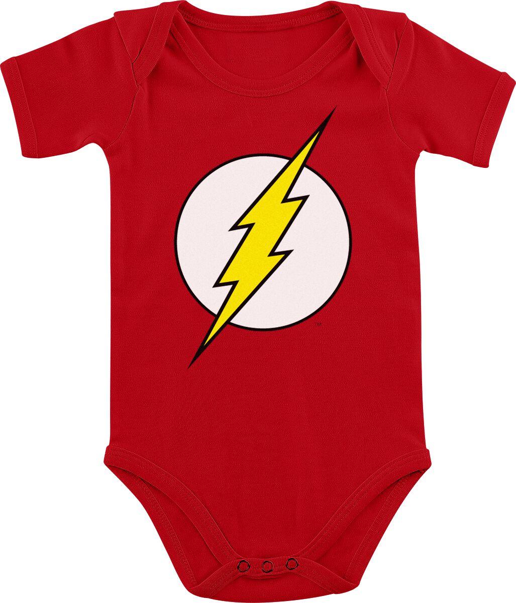 Image of   The Flash Logo Baby body rød
