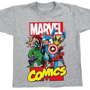 Marvel Comic Heroes T-shirt Enfant gris chiné