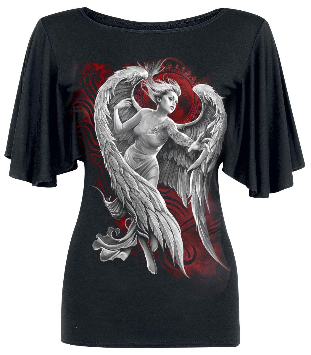 Image of   Spiral Angel Despair Girlie trøje sort