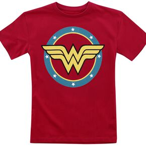 Wonder Woman Logo T-shirt Enfant rouge