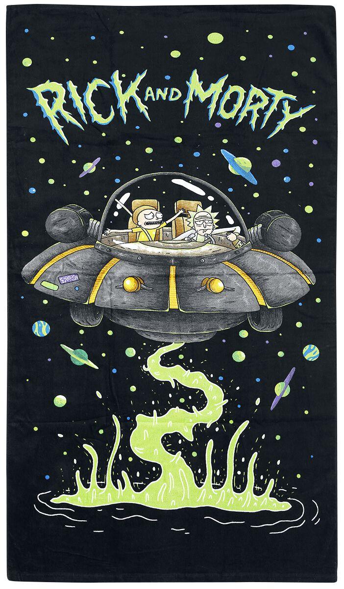 Image of   Rick And Morty Spaceship Strandhåndklæde Standard