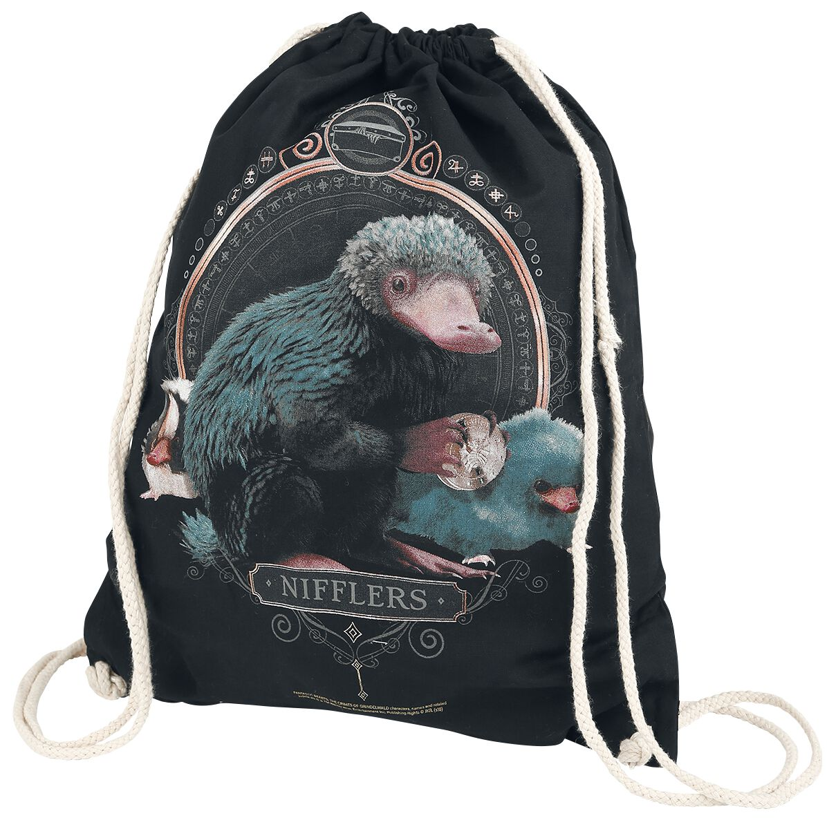 Image of   Fantastic Beasts Niffler Gymnastiktaske sort