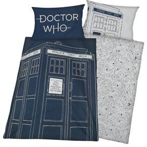 Doctor Who Tardis Parure de lit 1 place allover