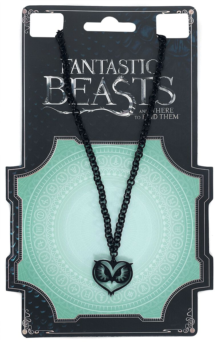 Image of   Fantastic Beasts Eule Halskæde sort