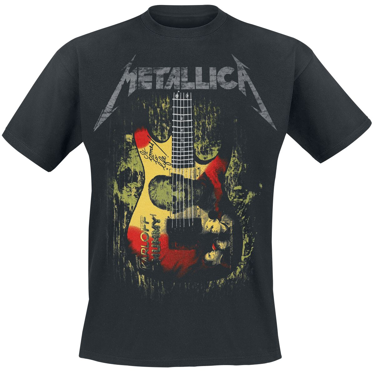 Image of   Metallica Kirk Mummy Guitar T-Shirt sort