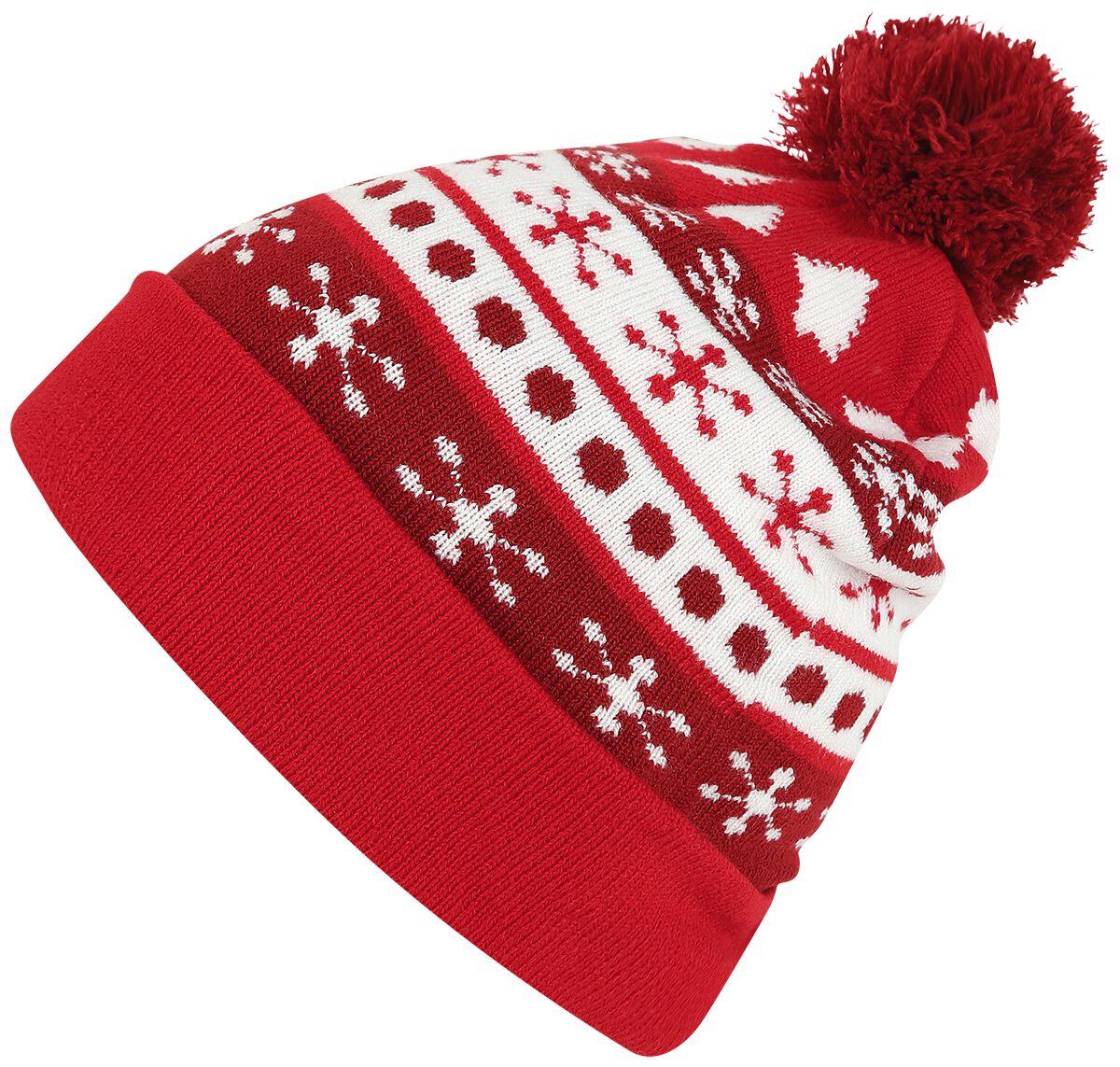 Image of   Urban Classics Christmas Beanie Beanie rød-hvid