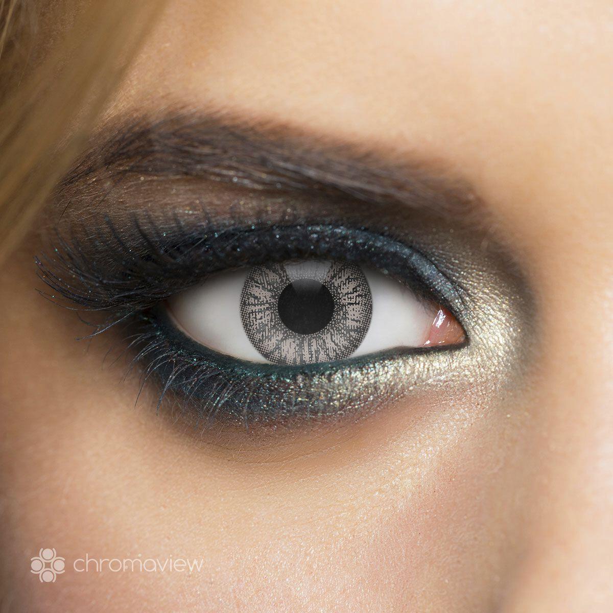 Chromaview 2 Tone Dark Grey Kontaktlinse grau