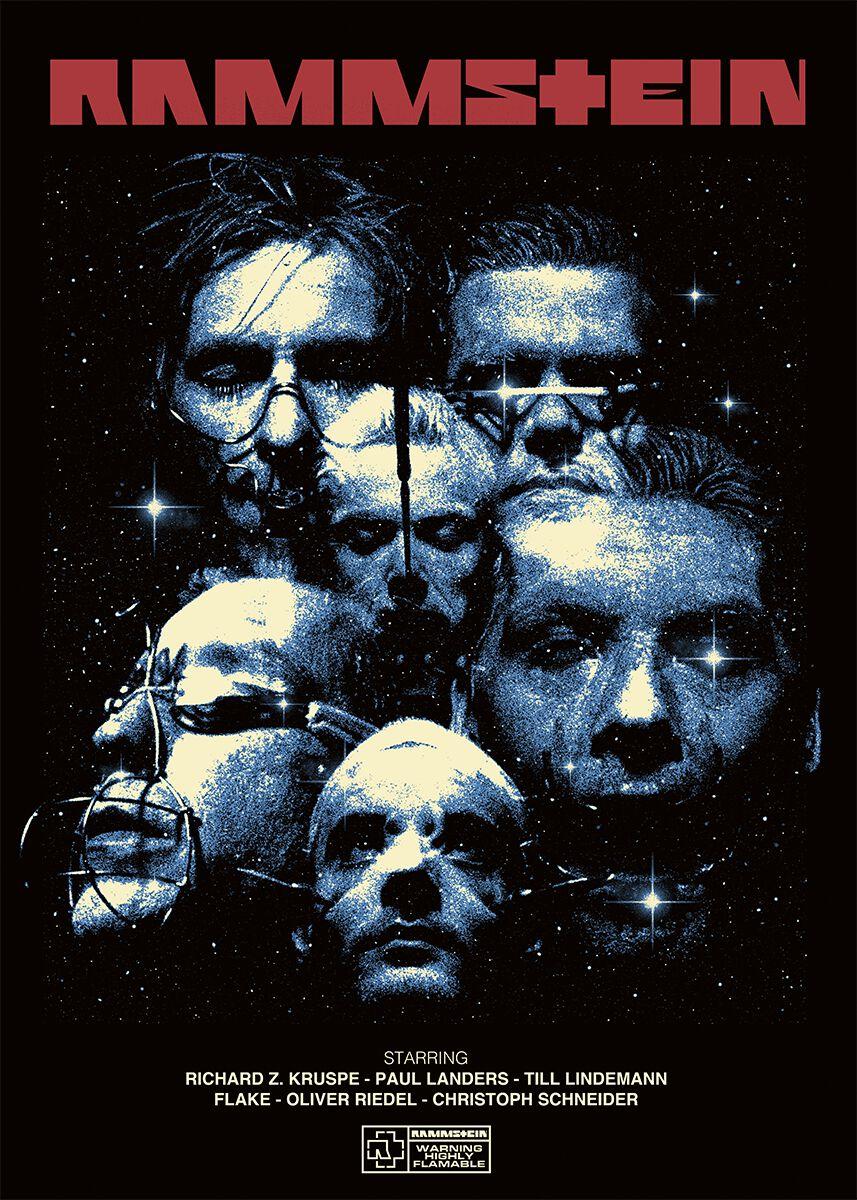 Image of   Rammstein Sehnsucht Movie Plakat multifarvet