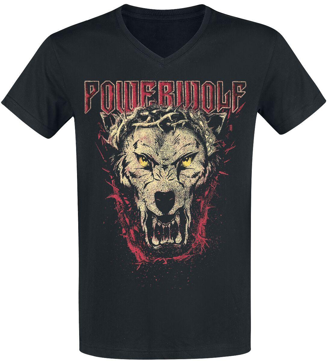 Image of   Powerwolf Icon Wolf T-Shirt sort