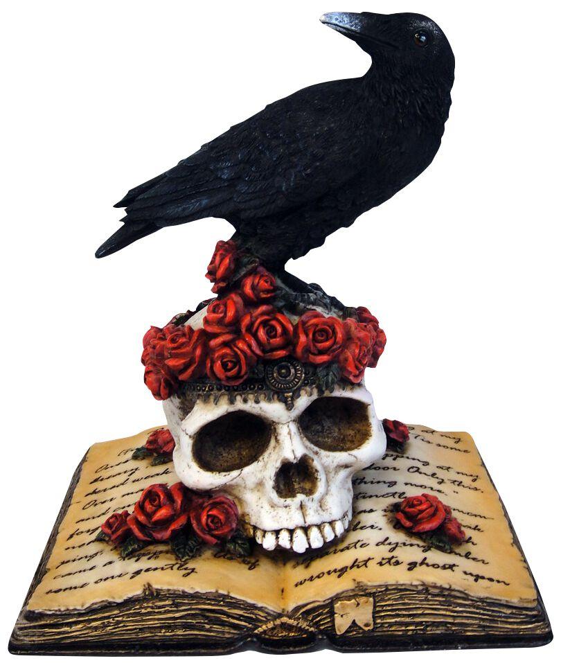 Image of   Nemesis Now Heartaches Reflection - Krähe auf Totenschädel Figur Standard