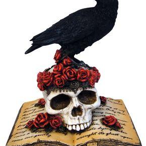 Nemesis Now Heartaches Reflection - Krähe auf Totenschädel Figurine Standard
