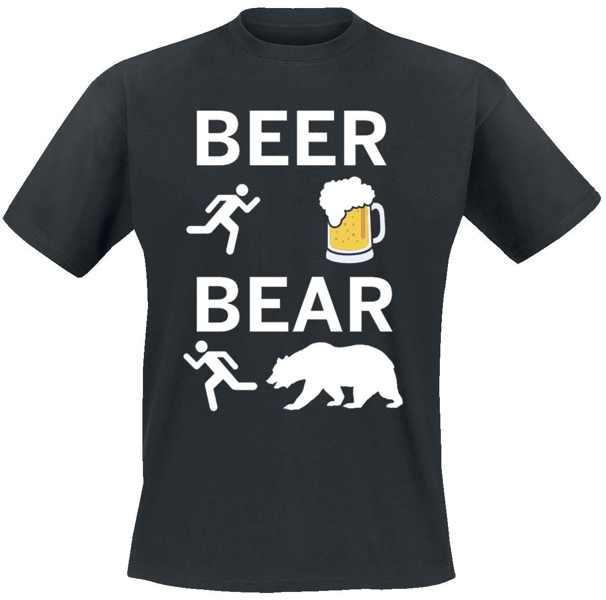 Beer - Bear - - T-Shirt - black