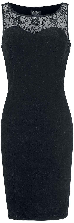Image of   H&R London Black Romance Wiggle Dress Kjole sort