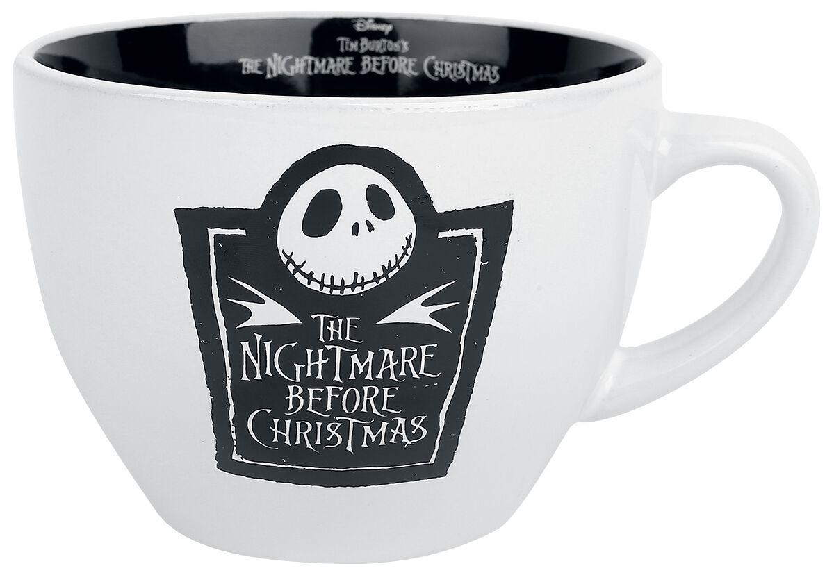 Image of   The Nightmare Before Christmas Cappuccino krus Krus sort-hvid