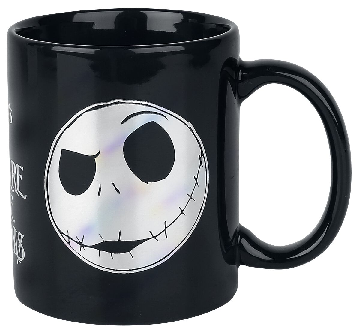 Image of   The Nightmare Before Christmas Jack Face - krus med folietryk Krus sort