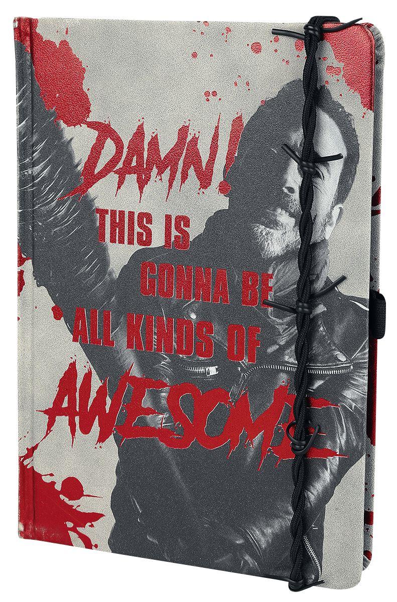 Image of   The Walking Dead Negan & Lucille - krus med folietryk Notesbog multifarvet