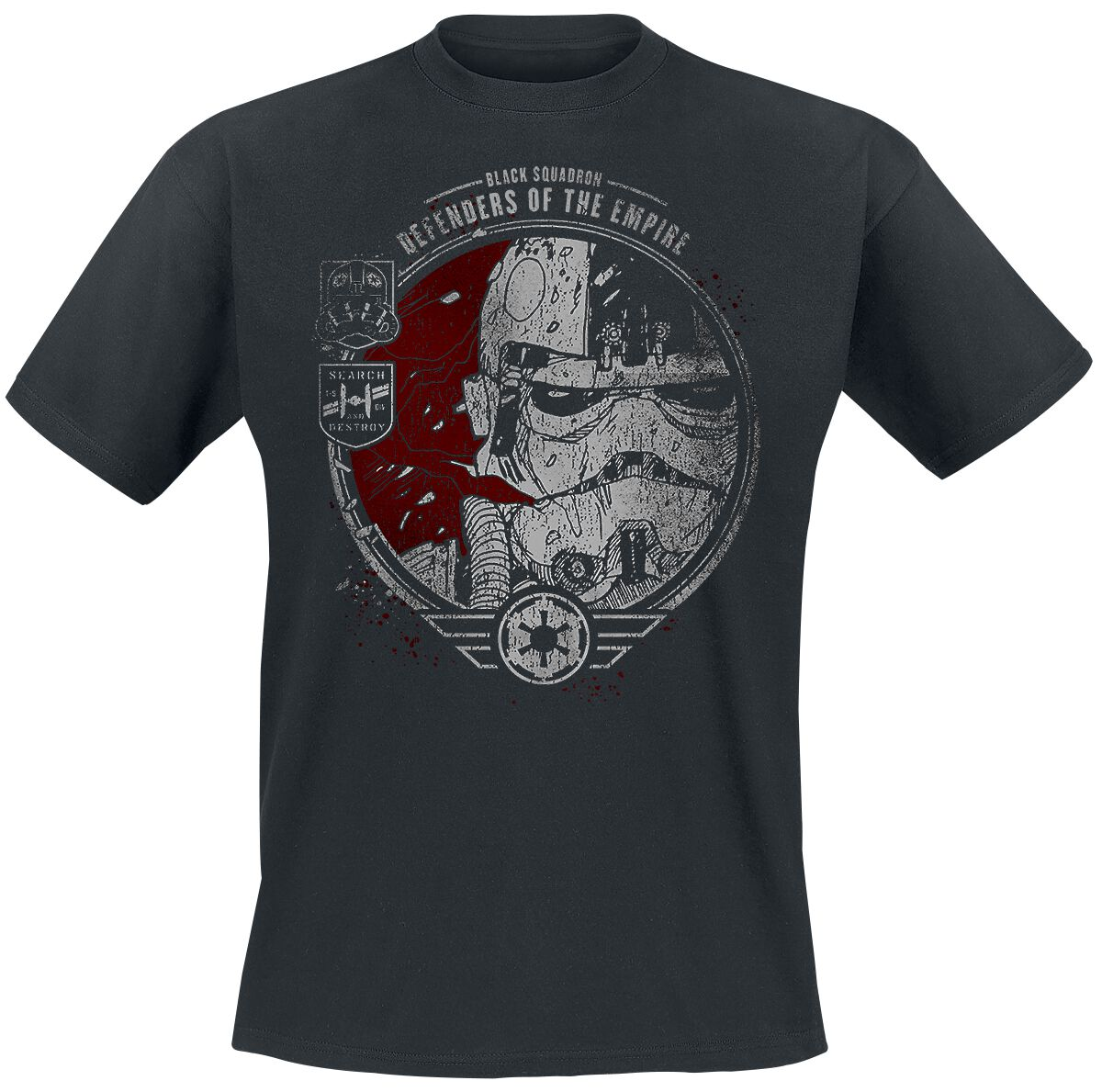 Image of   Star Wars Episode 4 - Eine Neue Hoffnung - Black Squadron T-Shirt sort
