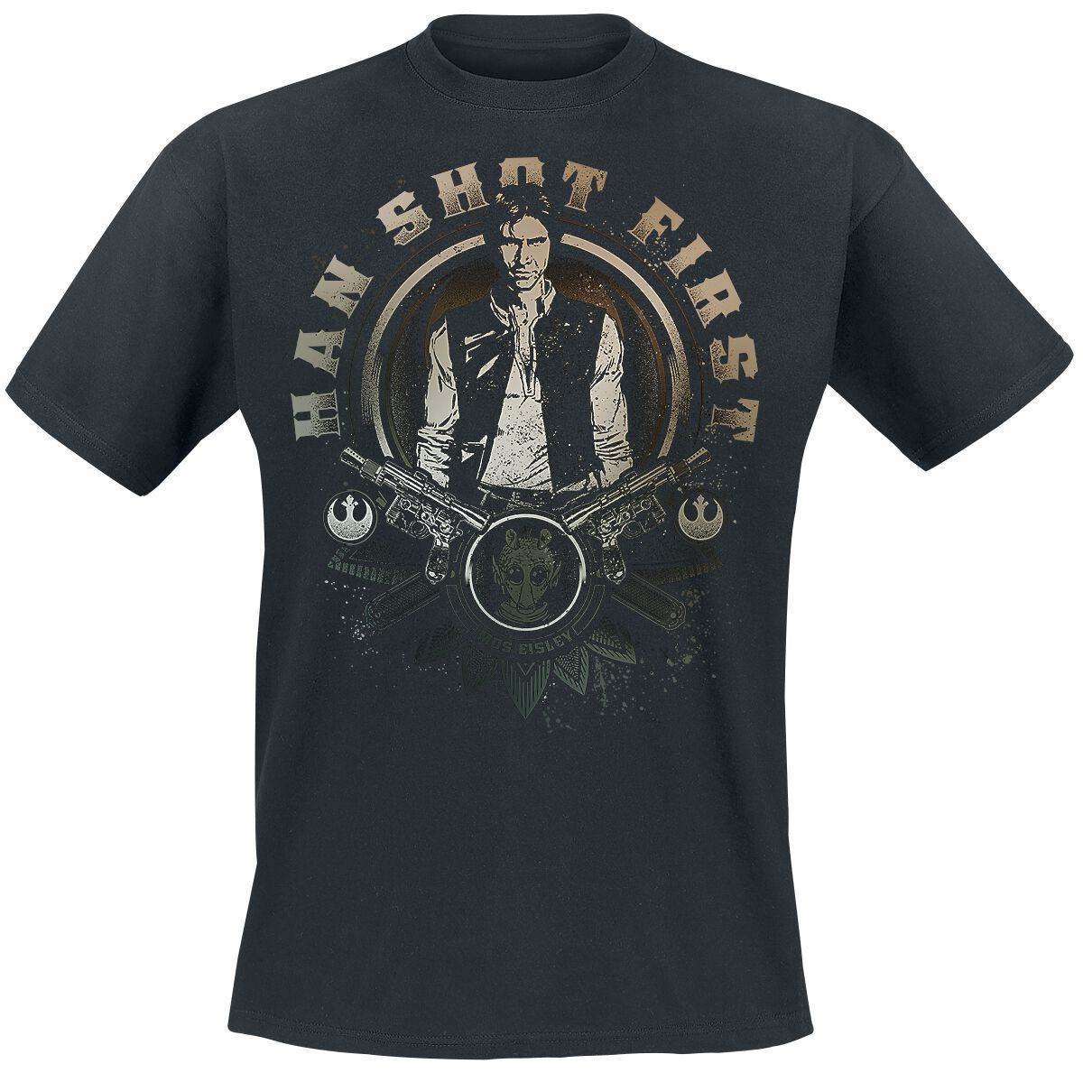 Image of   Star Wars Episode 4 - Eine Neue Hoffnung - Han Shot First T-Shirt sort