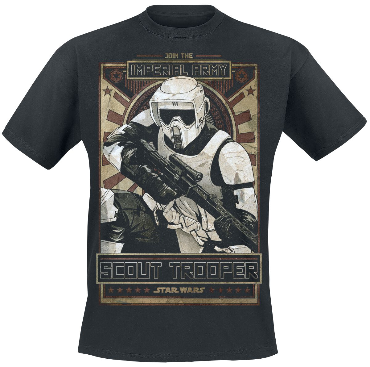 Image of   Star Wars Episode 6 - Die Rückkehr der Jedi Ritter - Imperial Army T-Shirt sort