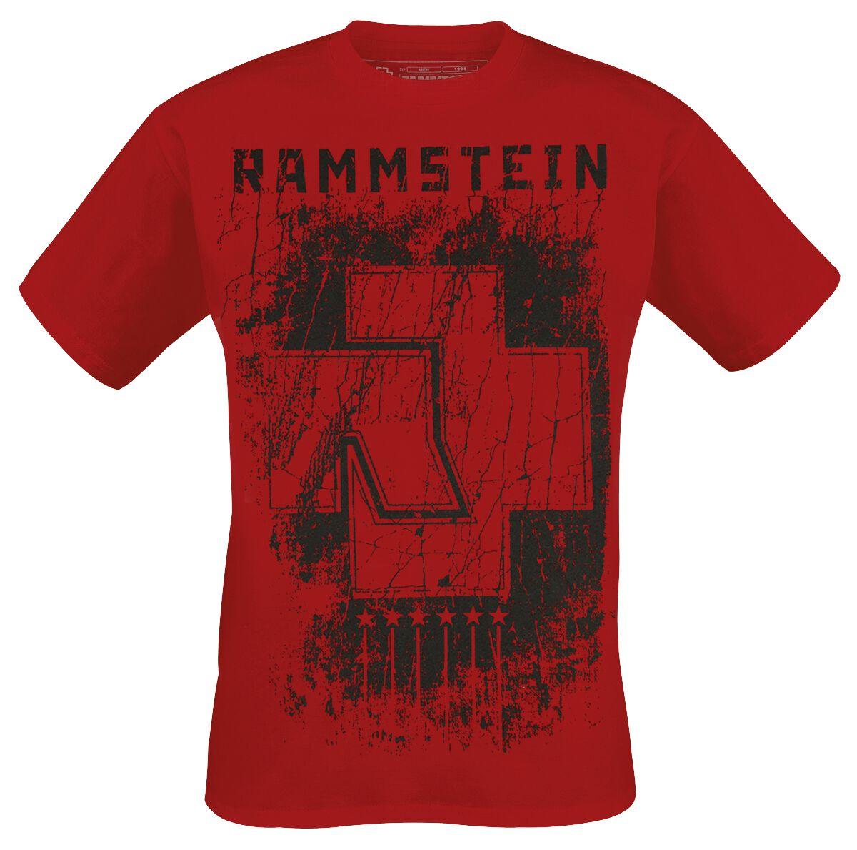 Image of   Rammstein 6 Herzen T-Shirt rød