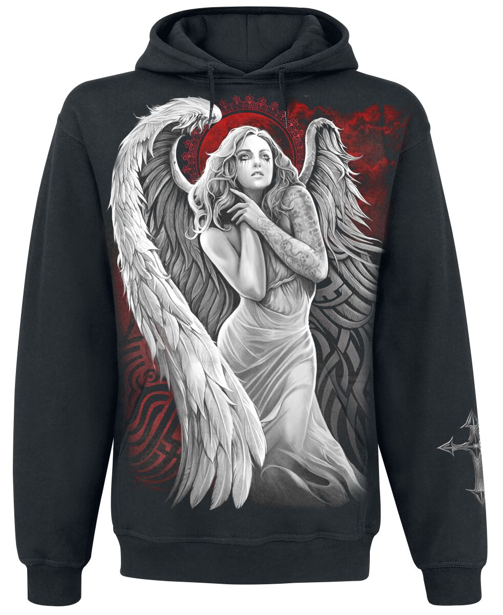 Image of   Spiral Angel Despair Hættetrøje sort