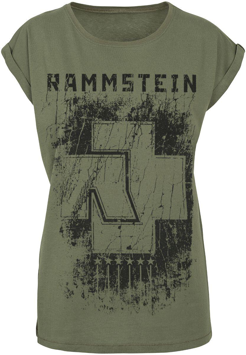 Image of   Rammstein 6 Herzen Girlie trøje olivengrøn