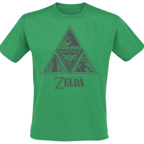 The Legend Of Zelda Triforce T-shirt vert