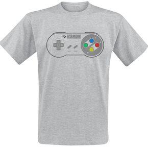 Nintendo Manette SNES T-shirt gris chiné